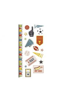 Game Day - Embossed Stickers