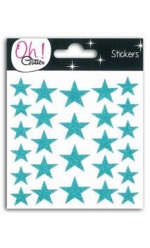26 estrellas glitter Azul