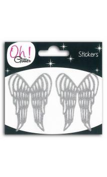2 ailes glitter noir