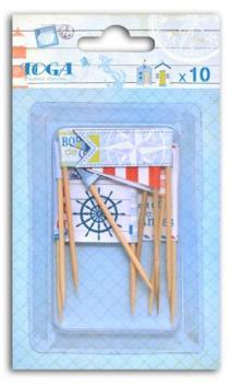 Surtido 10 banderas papel Vue sur mer