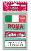 4 Placas metal Italia