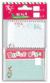 Set 4 cartas/4 sobres Italia