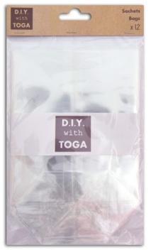 12 bolsas de plástico fondo plano 12x18 cm