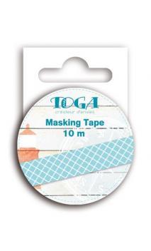 Masking tape azul/blanco Vue sur Mer- 10 m