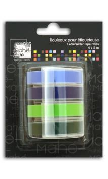Recarga Etiquetadora 4x2m – Colores fríos