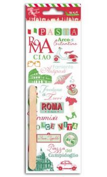 Rub-ons color Rome - 1 hojas 7,5x20