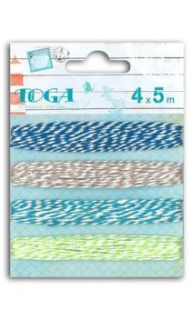 Surtido 4 ficelles bicolore 4x5 m
