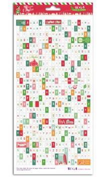1 hoja stickers alfabeto Italia 15x30