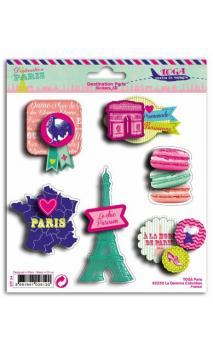 1 Hoja pegatinas 3D 15x15 Paris