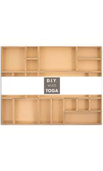 Caja vitrina con asa  42,3x31,9x2,9cm