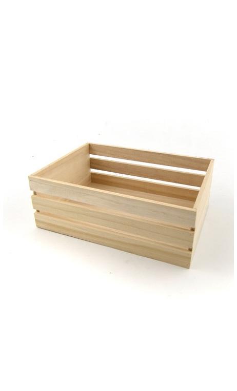 Cajón de madera 24,5x17x8,8cm