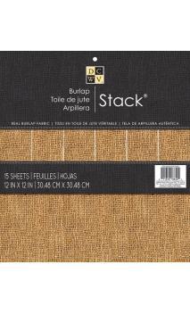 Bloc 30x30 Burlap Stack 15 ct