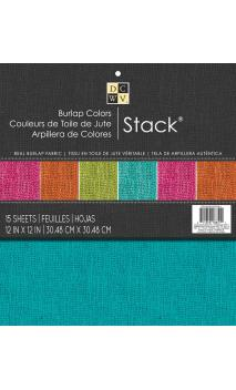 Bloc 30x30 Burlap Colors Stack15 ct