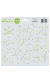 Sew Easy Template - Holiday