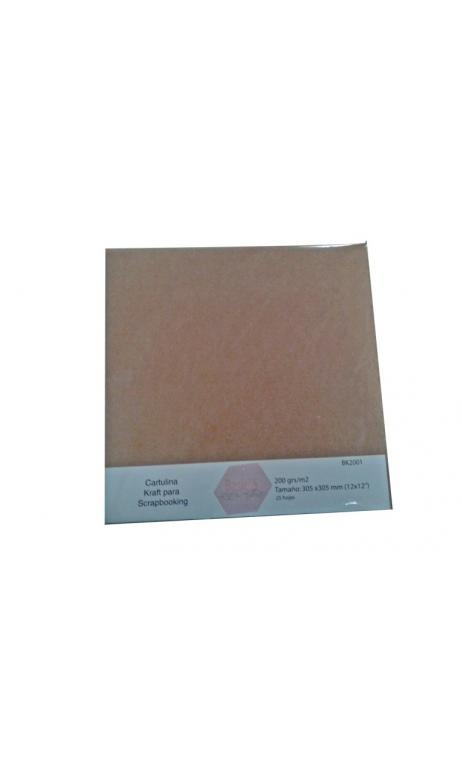 Papel Básico Kraft 200g 30,5x30,5cm 25 hojas