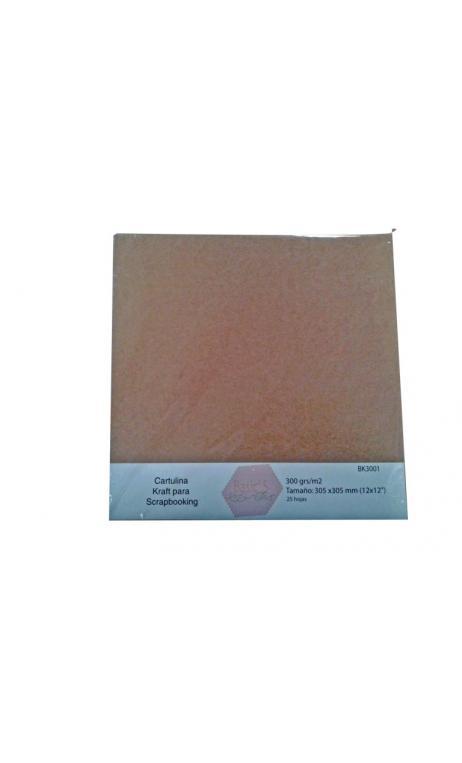 Papel Básico Kraft 300g 30,5x30,5cm 25 hojas