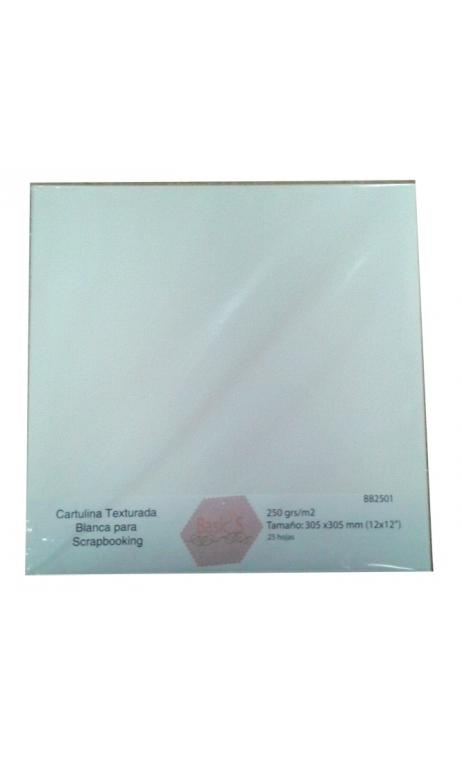 Papel Texturado Blanco 250g 30,5x30,5cm 25 hojas