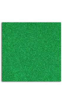 Glitter papel adhesivo 30x30 - verde abeto 10f.