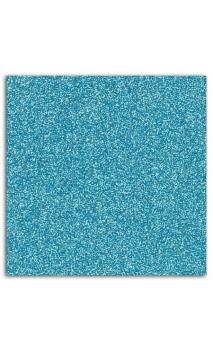 Mahé 30x30 - Glitter papel adhesivo 30x30 - Azul cielo 1 hoja - Pack 5 h.