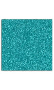 Glitter papel adhesivo 30x30 - Azul turquesa 10f.