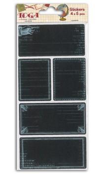 4 hoja pegatinas Chalkboard Recuerdos del Cole