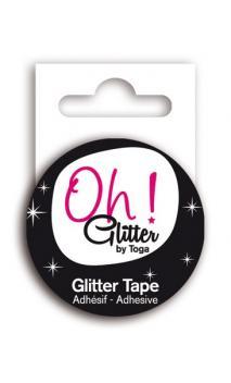 Glitter tape 2m - Negro