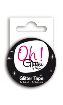 Glitter tape 2m - Blanco