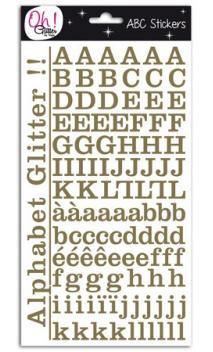 Glitter alfabeto Montmartre - Or
