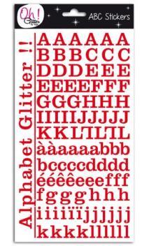 Glitter alfabeto Montmartre - rojo