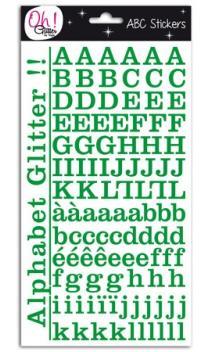 Glitter alfabeto Montmartre - verde abeto