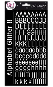 Glitter alfabeto St-Germain-des-Prés - Blanco
