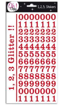 Glitter cifras - Montmartre - rojo