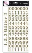 Glitter cifras - Montmartre - Oro