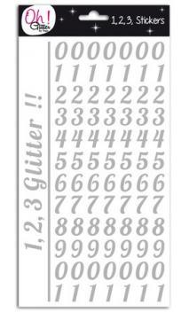 Glitter cifras - Champs-Elysées- Plata