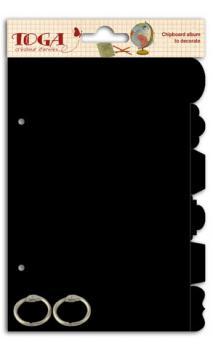 Mini album separadores Negro 13x18