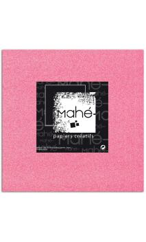 Mahé 30x30 - Glitter papel adhesivo Rosa Fluo 1 hoja - Pack 10 h.