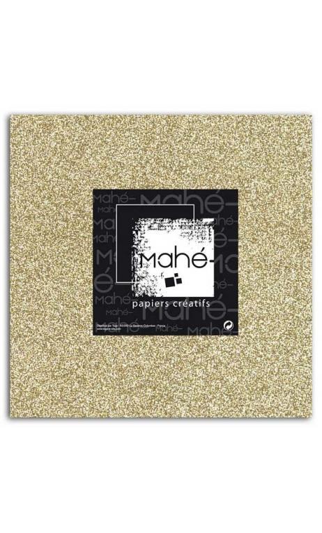 Mahé 30x30 - Glitter adhesivo Oro 5 hojas