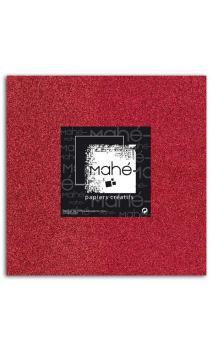 Mahé 30x30 - Glitter adhesivo Rojo 5 hojas