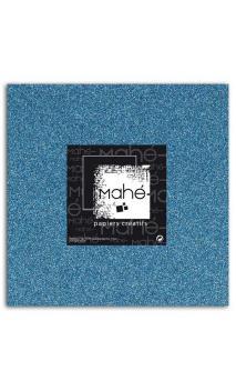 Mahé 30x30 - Glitter adhesivo Azul 5 hojas
