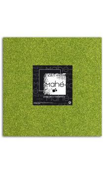 Mahé 30x30 - Glitter papel adhesivo Verde 1 hoja - Pack 10 h.