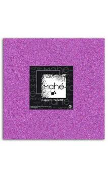 Mahé 30x30 - Glitter papel adhesivo Violeta Fluo 1 hoja - Pack 10 h.