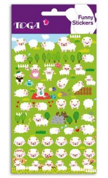 Funny pegatinas TOGA - Moutons des prés - (Corderos en el campo)