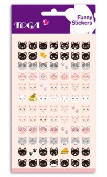Funny pegatinas TOGA -  Happy cat - (Gato feliz)