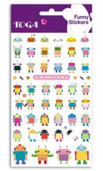 Funny pegatinas TOGA - Robot/friends - (Robot y amigos)
