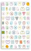 Funny stickers TOGA - AlphaB qui rit - (Alfabeto risueño)