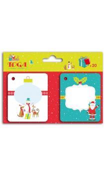 Set 20 etiquetas Kdo Navidad en el pais de los juguetes