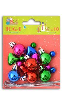 Set 18 mini decoraciones de Navidad