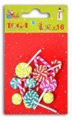 Set 16 mini caramelos de resina