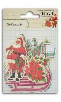 Conjunto de 24 formas troqueladas Navidad