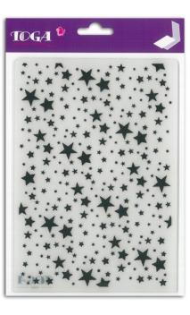 Placa de Emboss A5 nube de estrellas